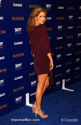 Ashley-Jones-short-sexy-burgandy-skirt-heels