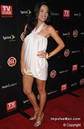 Stephanie-Jacobsen-hot-mini-white-dress-