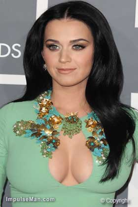 Katy-Perry-big-boobs-mint-dress
